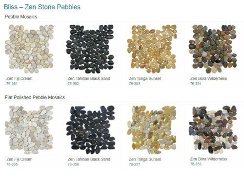 Bliss Zen Pebble Mosaics Backsplash Tile Anatolia Tile Squarefoot Flooring 1