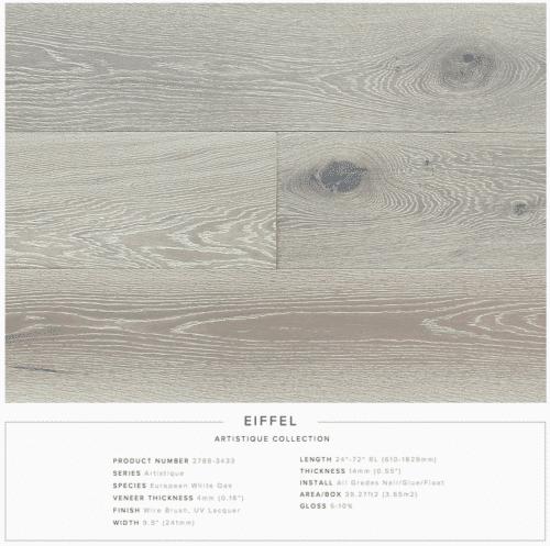 Eiffel Pravada Artistique Collection Oak Engineered Hardwood Floors 1