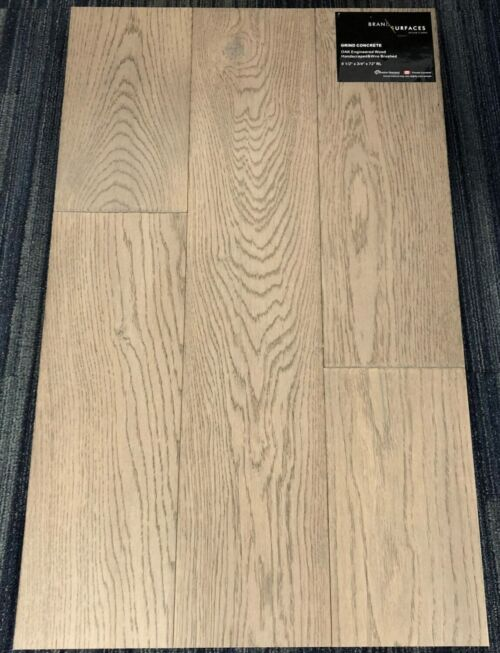 Grind Concrete Brand Surfaces Oak Handscraped Wire Brush Engineered Flooring scaled 1 1