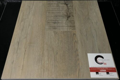 LEATHER 5.2MM STONEWEAR SPC VINYL PLANK FLOORING WITH PAD scaled 1 1