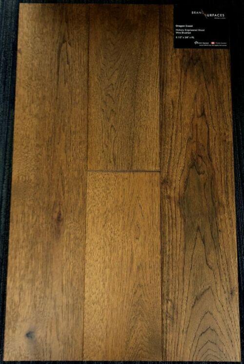 Oregon Coast Brand Surfaces Hickory Wirebrushed Engineered Hardwood Flooring 1 1