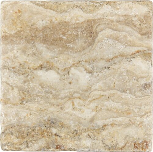 SCABOS 73 009 4X4 TUMBLED TRAVERTINE TILE