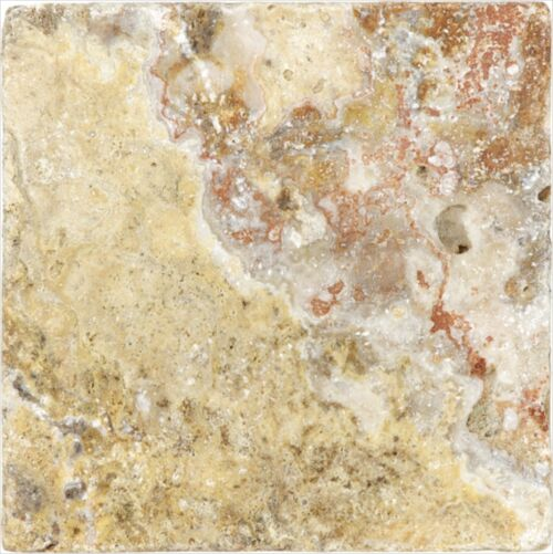 SCABOS 73 057 6X6 TUMBLED TRAVERTINE TILE