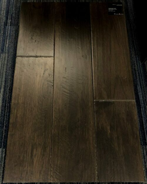 Transitional Gray Brand Surfaces Hickory Handscraped Engineered Hardwood Flooring 1 1