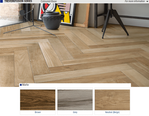 Treverkfusion Series Matte Wood Look Porcelain Tiles Color Brown Grey Neutral Beige Size 4x28 1 1